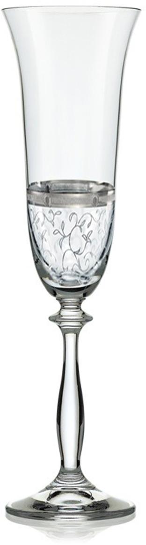 """Бокалы для шампанского Bohemia Crystal коллекции """"Анжела"""" порадуют не только вас, но и ваших гостей. Они обладают привлекательным внешним видом, а материалом их изготовления является высококачественное хрустальное стекло. Кроме того, красоту и форму посуды подчеркивают прозрачные ножки. Объем бокала 190 мл. Количество в упаковке 6 шт."""