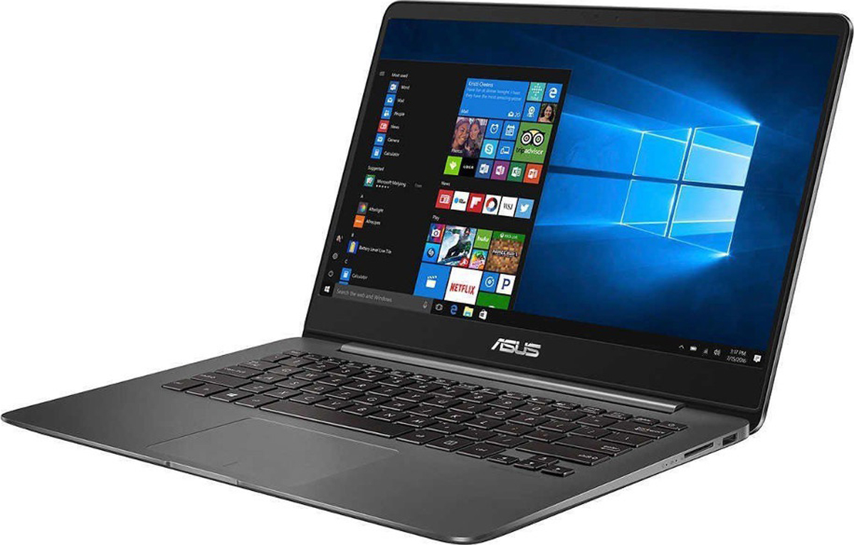 ASUS ZenBook UX430UN-GV135T, Metal Grey + чехол525605ASUS ZenBook UX430UN совмещает в себе портативность и размер экрана. Изготовленный в тонком и легком корпусе, отделанный вкультовом стиле ZenBook и оснащенный высокопроизводительными комплектующими, ZenBook UX430 стал мощным рабочим инструментом,который не просто можно взять с собой куда угодно, но и не хочется оставлять, куда бы ни отправляясь. С собой можно взять больше, занявпри этом меньше места!Когда дело доходит до работы, любой согласится, что больший экран - более удобный экран, на нем проще организовать многозадачноерабочее окружение, да и развлечения на большом экране впечатляют больше. Потому инженеры ASUS пошли наперекор всем правилам иустановили в ZenBook UX430 самый большой экран из всех технически возможных. Уменьшив рамку до предельно узких 7,18 мм, им удалосьпоместить впечатляющий 14-дюймовый экран с разрешением Full HD (1920 x 1080) в стройный корпус с габаритами, соответствующими 13- дюймовым ноутбукам. Чтобы сделать работу с ним еще комфортнее, экран оснастили матовым антибликовым покрытием, эффективноподавляющим раздражающие отражения. В результате ноутбук с впечатляющим соотношением площади экрана к корпусу в 80%* получилмаксимальную производительность при минимальных габаритах - так что теперь можно сделать больше, и при этом переносить меньше!Серия ZenBook славится превосходным качеством дисплеев, и ZenBook UX430 не стал исключением. Его 14-дюймовый экран с антибликовымпокрытием и улучшенной цветопередачей перекрывает 100% цветового пространства sRGB - это означает, что картинка на нем оказываетсяболее точной и более сочной, чем на стандартных дисплеях. Он также гарантирует отсутствие снижения контраста и искажений цветопередачипри угле обзора вплоть до 178°, что делает его идеальным для совместной работы или развлечений.ZenBook UX430 демонстрирует бескомпромиссную производительность, оставляющую далеко позади конкурентов. Сердцем его стал мощныйпроцессор, возможности которого дополняют мощ