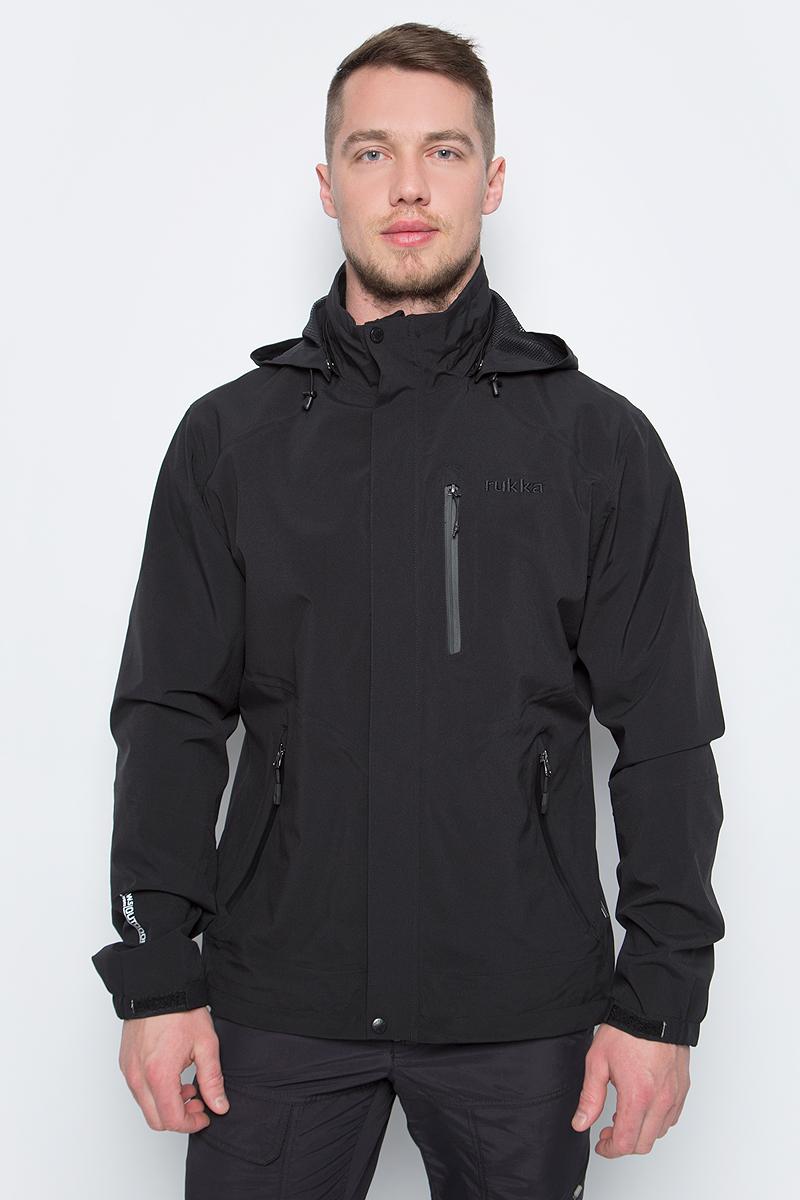 Куртка мужская Rukka, цвет: черный. 979300296RV_990. Размер L (52)979300296RV_990Легкая куртка от Rukka выполнена из эластичного полиэстера. Модель с длинными рукавами, воротником-стойкой и отстегивающимся капюшоном застегивается на молнию и имеет ветрозащитный клапан, по бокам и на груди дополнена карманами на молниях.