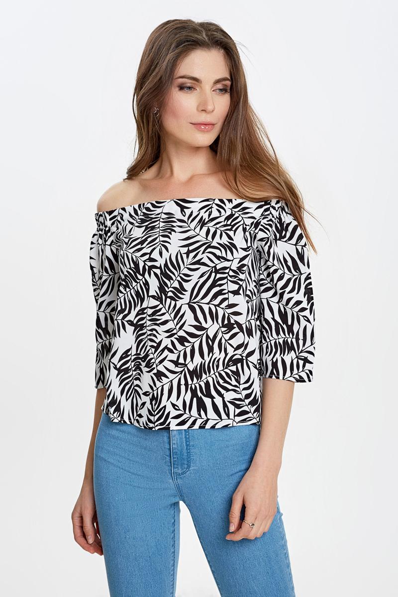 Блузка женская Concept Club Olle, цвет: черный. 10200270164_8000. Размер XL (50) блузка женская concept club diany цвет белый 10200270181 200 размер xl 50