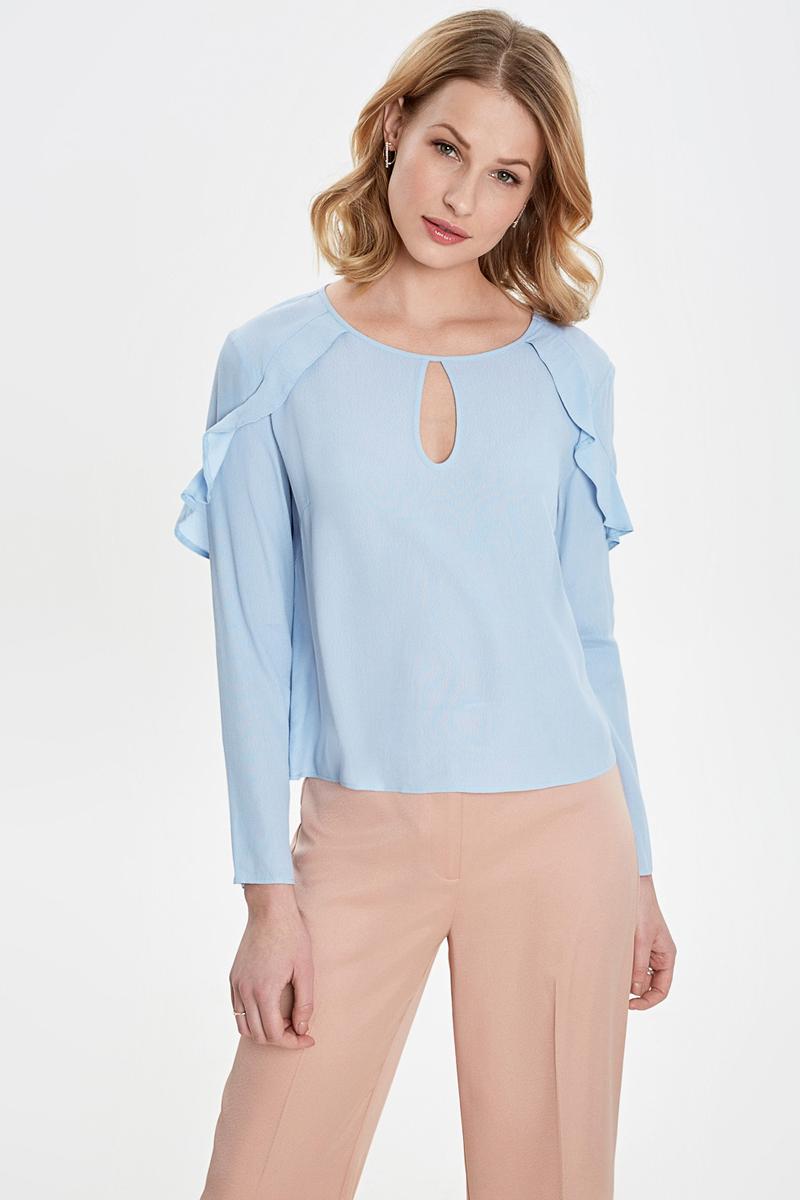 Блузка женская Concept Club Roffy, цвет: голубой. 10200260241_500. Размер XL (50) блузка женская concept club diany цвет белый 10200270181 200 размер xl 50
