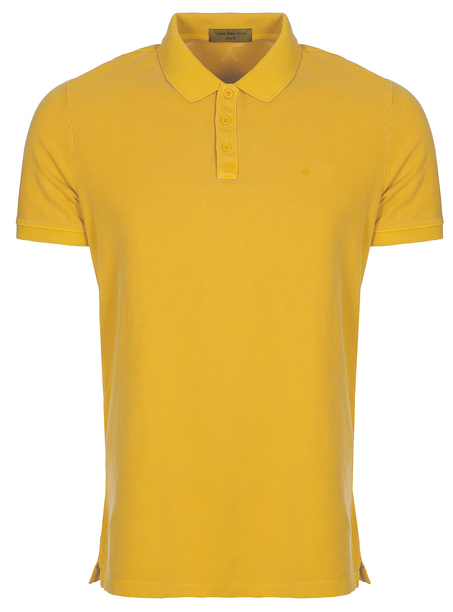 Купить Поло мужское Calvin Klein Jeans, цвет: желтый. J3EJ303426_7960. Размер S (44/46)