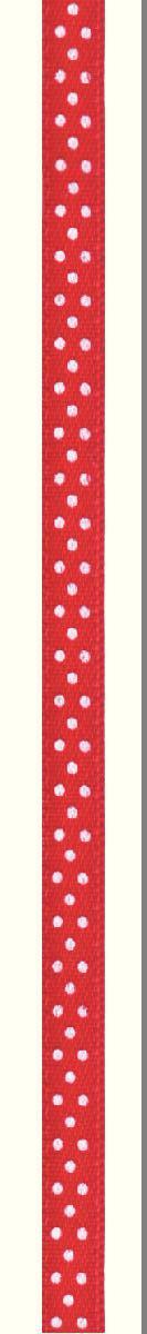 Лента атласная Prym Горошек, цвет: белый, красный, 6 мм, 4 м983502Атласная лента Prym изготовлена из 100% полиэстера. Область применения атласной ленты весьма широка. Изделие предназначено для оформления цветочных букетов, подарочных коробок, пакетов. Кроме того, она с успехом применяется для художественного оформлениявитрин, праздничного оформления помещений, изготовления искусственных цветов.Ее также можно использовать для творчества в различных техниках, таких как скрапбукинг, оформление аппликаций, для украшения фотоальбомов, подарков, конвертов, фоторамок, открыток и многогодругого. Ширина ленты: 6 мм. Длина ленты: 4 м.