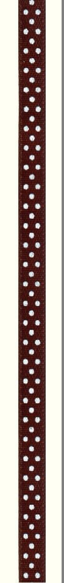 Лента атласная Prym Горошек, цвет: белый, коричневый, 6 мм, 4 м983503Атласная лента Prym изготовлена из 100% полиэстера. Область применения атласной ленты весьма широка. Изделие предназначено для оформления цветочных букетов, подарочных коробок, пакетов. Кроме того, она с успехом применяется для художественного оформлениявитрин, праздничного оформления помещений, изготовления искусственных цветов.Ее также можно использовать для творчества в различных техниках, таких как скрапбукинг, оформление аппликаций, для украшения фотоальбомов, подарков, конвертов, фоторамок, открыток и многогодругого. Ширина ленты: 6 мм. Длина ленты: 4 м.