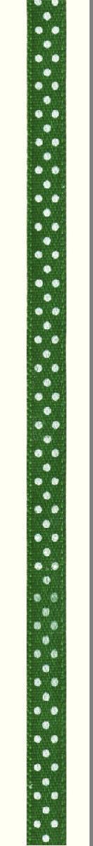 Лента атласная Prym Горошек, цвет: белый, зеленый, 6 мм, 4 м983504Атласная лента Prym изготовлена из 100% полиэстера. Область применения атласной ленты весьма широка. Изделие предназначено для оформления цветочных букетов, подарочных коробок, пакетов. Кроме того, она с успехом применяется для художественного оформлениявитрин, праздничного оформления помещений, изготовления искусственных цветов.Ее также можно использовать для творчества в различных техниках, таких как скрапбукинг, оформление аппликаций, для украшения фотоальбомов, подарков, конвертов, фоторамок, открыток и многогодругого. Ширина ленты: 6 мм. Длина ленты: 4 м.