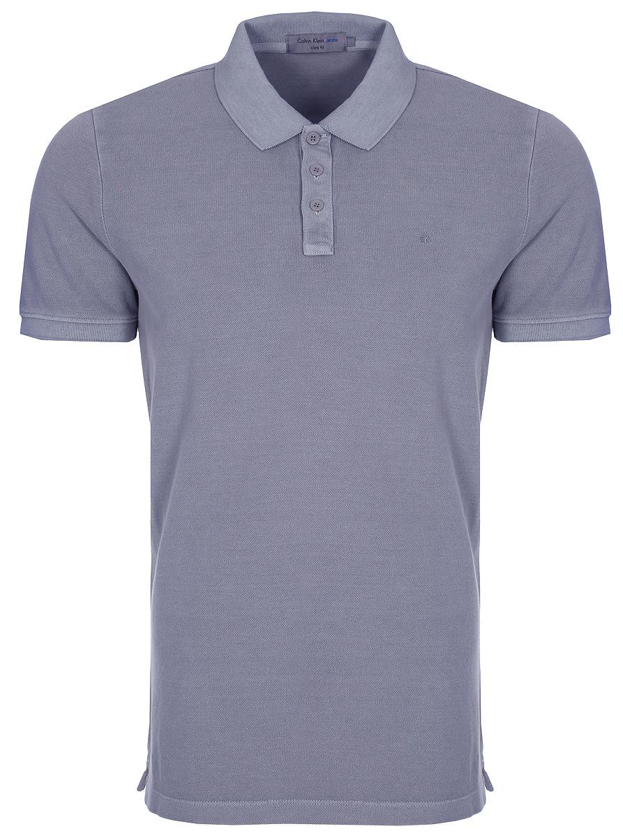 Купить Поло мужское Calvin Klein Jeans, цвет: серый. J3EJ303426_0370. Размер S (44/46)