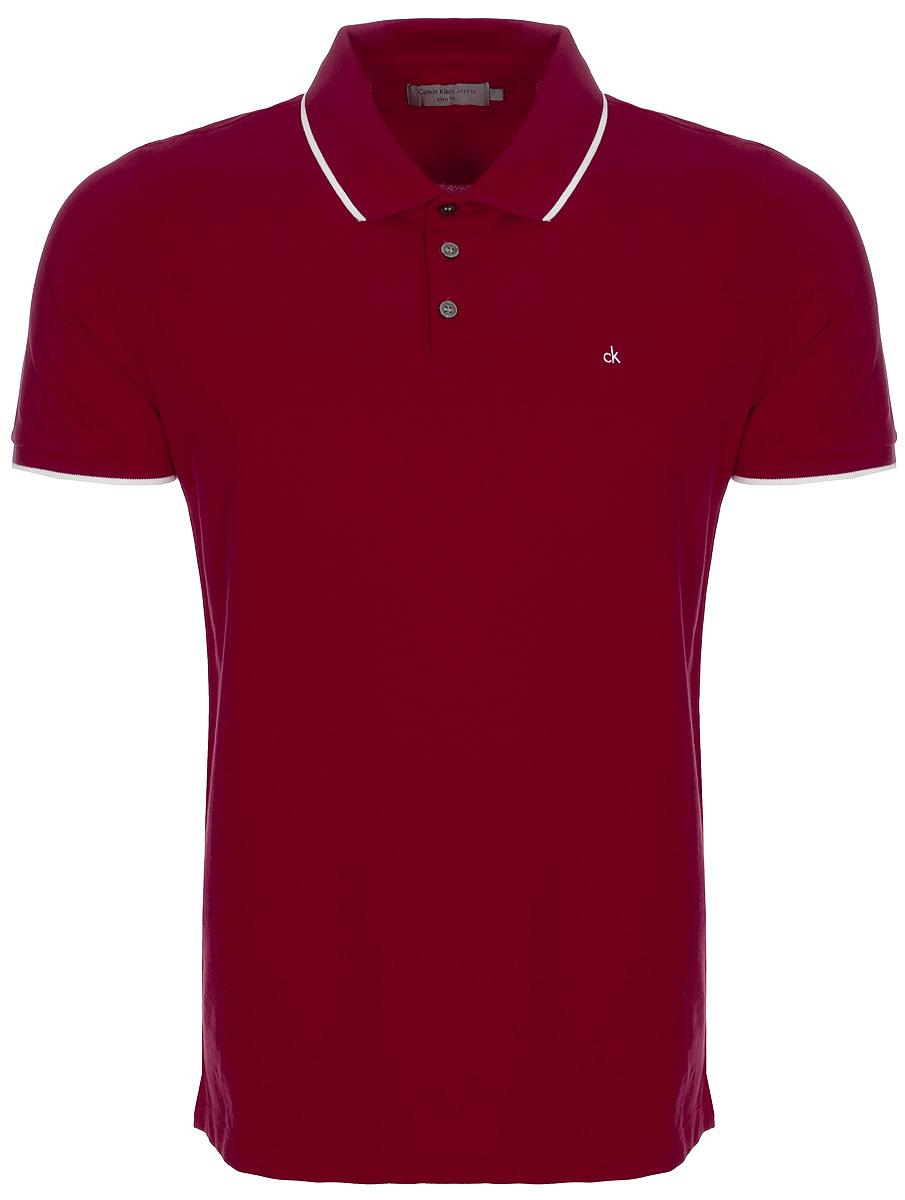 Поло мужское Calvin Klein Jeans, цвет: красный. J30J306396_6950. Размер M (46/48)J30J306396_6950