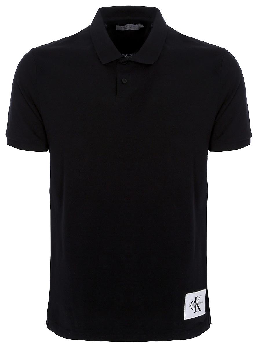 Купить Поло мужское Calvin Klein Jeans, цвет: черный. J30J306931_9050. Размер L (48/50)