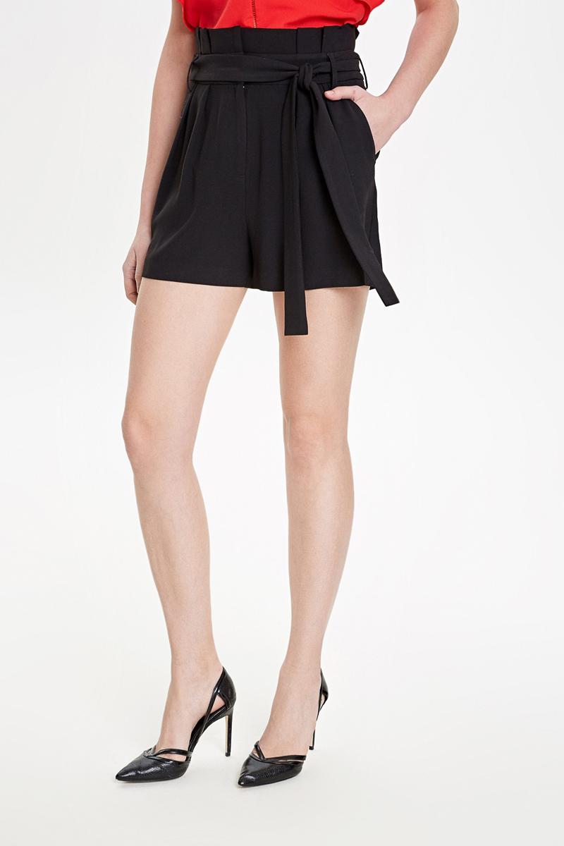 Шорты женские Concept Club Ness, цвет: черный. 10200420039_100. Размер L (48) брюки женские concept club elb цвет розово коричневый 10200160282 1000 размер l 48
