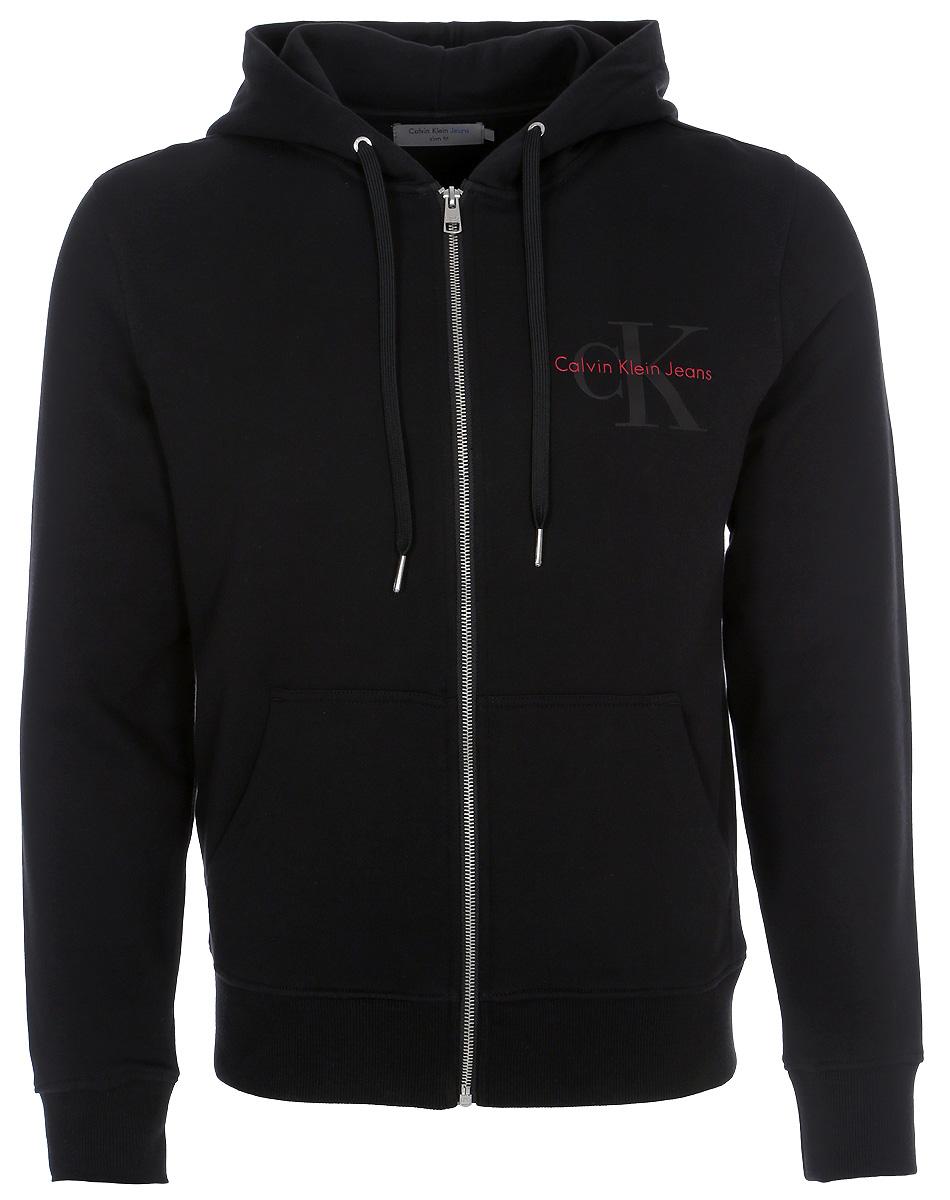 Купить Толстовка мужская Calvin Klein Jeans, цвет: черный. J30J306998_0990. Размер M (46/48)