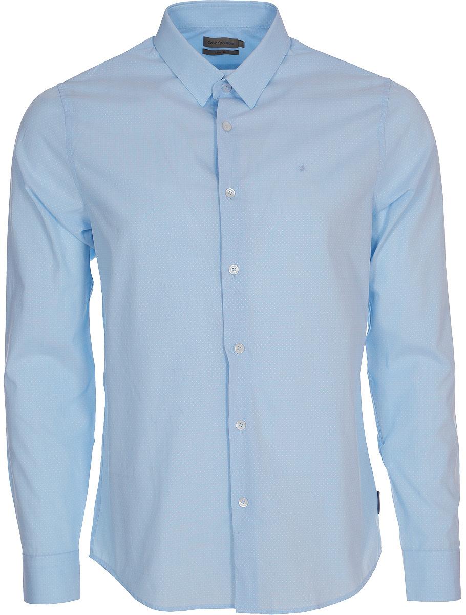 Рубашка мужская Calvin Klein Jeans, цвет: голубой. J30J307019_4000. Размер L (48/50)J30J307019_4000