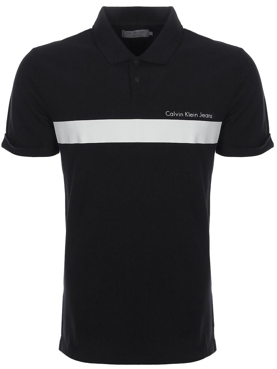 Купить Поло мужское Calvin Klein Jeans, цвет: черный. J30J306932_0990. Размер XXL (52/54)