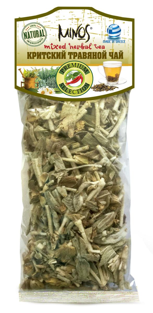 Minos критский травяной чай, 25 г20001Критский травяной чай - имеет приятный вкус и аромат, собран в экологически чистых горах острова Крит в Греции, содержит полезные и микро и макро- элементы, тонизирует, бодрит, заряжает энергией.Процесс приготовления: 1 столовую ложку чая залить стаканом кипятка и настаивать 15 минут.