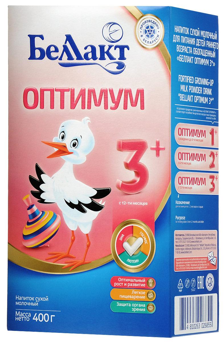 Беллакт Оптимум 3+ смесь молочная сухая с 12 месяцев, 400 г беллакт оптимум 2 молочная смесь для питания с 6 мес 350 г