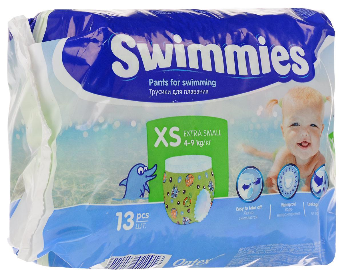 Фото Swimmies Детские трусики для плавания X-Small 4-9 кг 13 шт