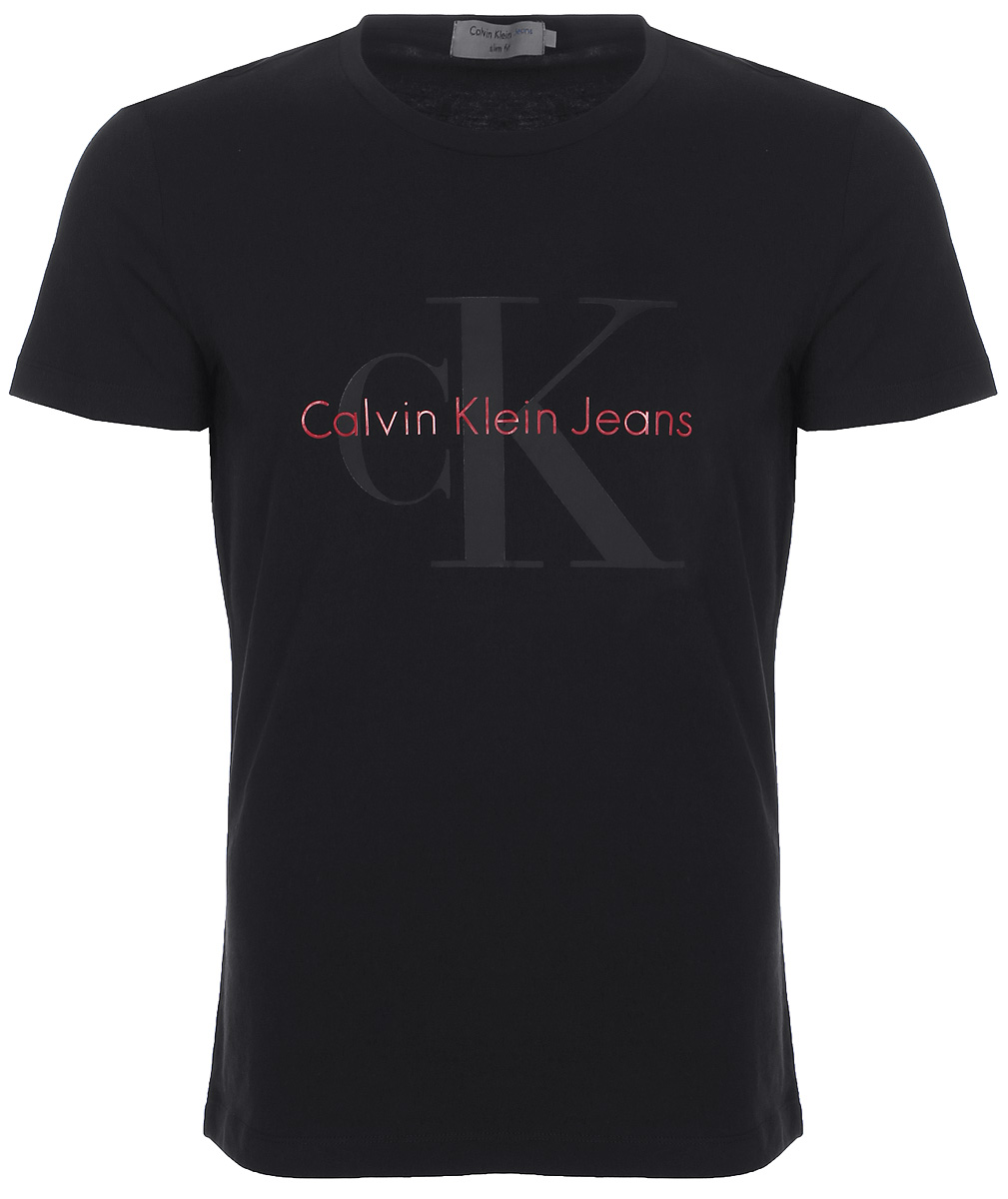 Купить Футболка мужская Calvin Klein Jeans, цвет: черный. J30J306884_0990. Размер L (48/50)
