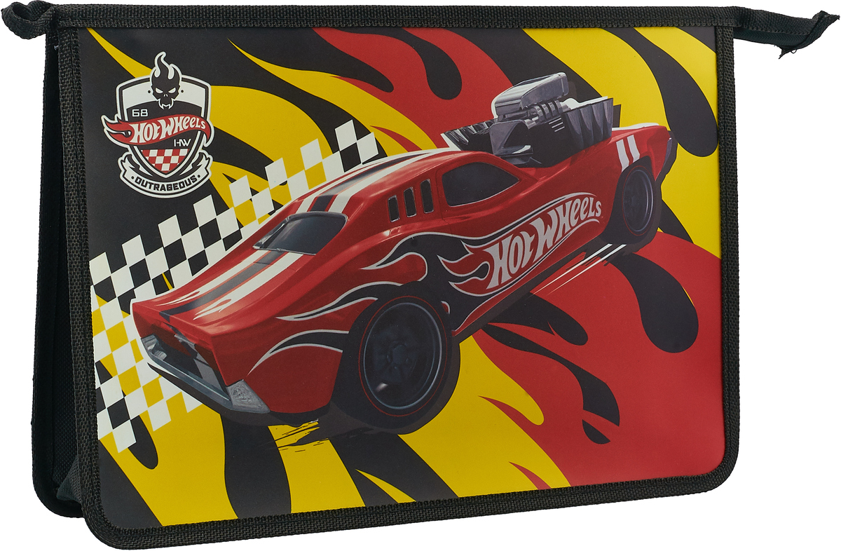Mattel Папка-конверт Hot Wheels формат А4+ 4255113 mattel hot wheels трек с трамплином мега прыжок