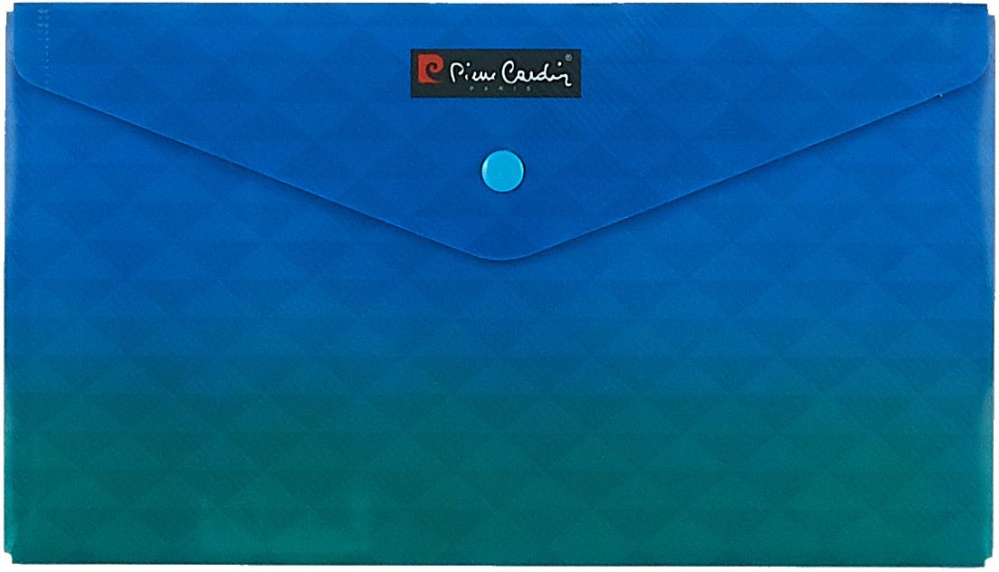 Pierre Cardin Папка-конверт на кнопке Geometrie Blue255031Папка-конверт Pierre Cardin Geometrie Blue от знаменитого бренда Pierre Cardin. Geometrie - серия абстрактных геометрических дизайнов в 3 изящных расцветках с градиентным переходом. Папка-конверт удобна в путешествиях и для хранения документов небольшого формата - чеки, квитанции. Защищает документы от загрязнения и смятия.