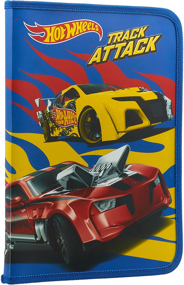 Mattel Папка-конверт Hot Wheels формат А4+ 42551094255109Папка-конверт Mattel Hot Wheels для тетрадей и учебников - на молнии с трёх сторон.