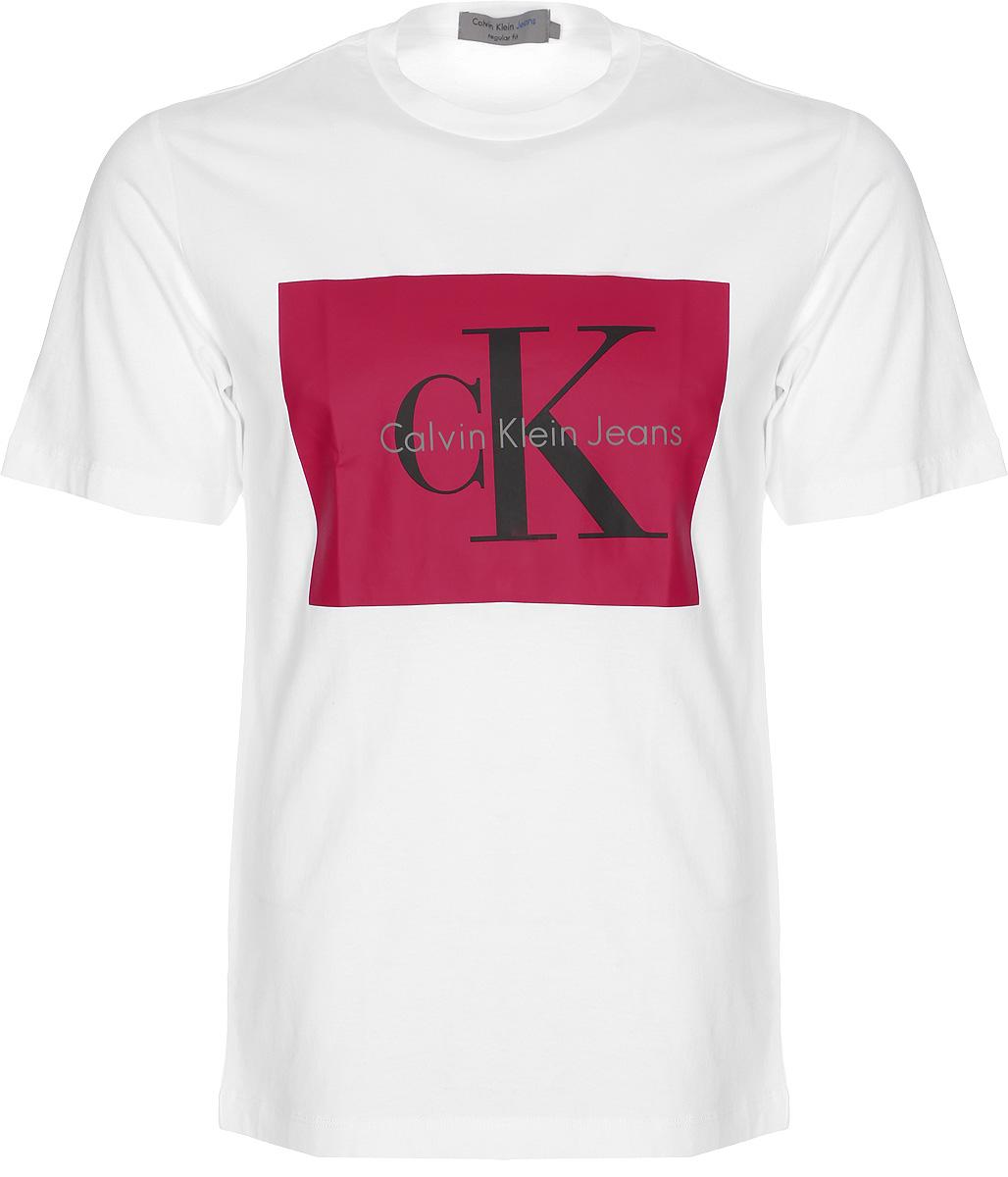 Футболка мужская Calvin Klein Jeans, цвет: белый. J30J307427_1120. Размер XL (50/52) футболка calvin klein jeans calvin klein jeans ca939ewuhm56