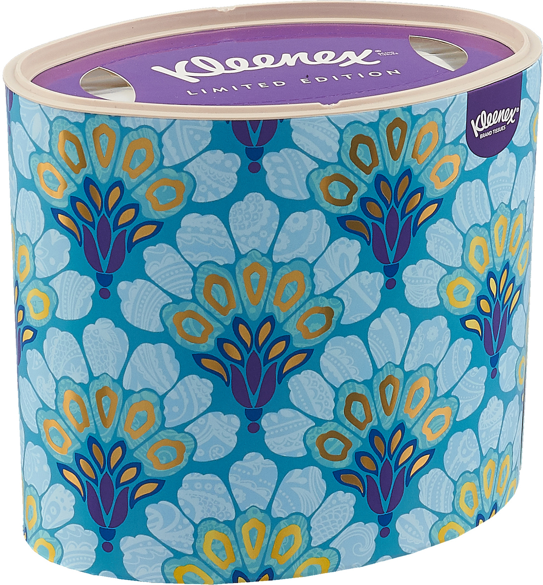 Kleenex Бумажные салфетки Decor, универсальные, цвет: бирюзовый, золотой, 64 шт удлинитель iek wyp10 06 05 03 n 3 м 5 розеток