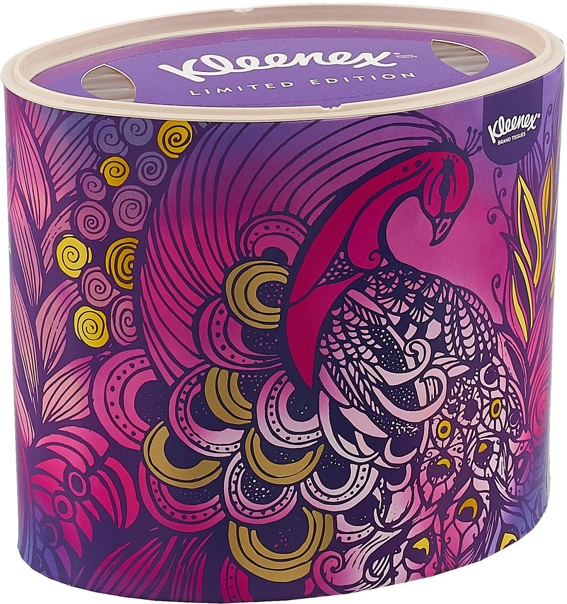 """Фото Kleenex Бумажные салфетки """"Decor"""", универсальные, цвет: фиолетовый, 64 шт"""