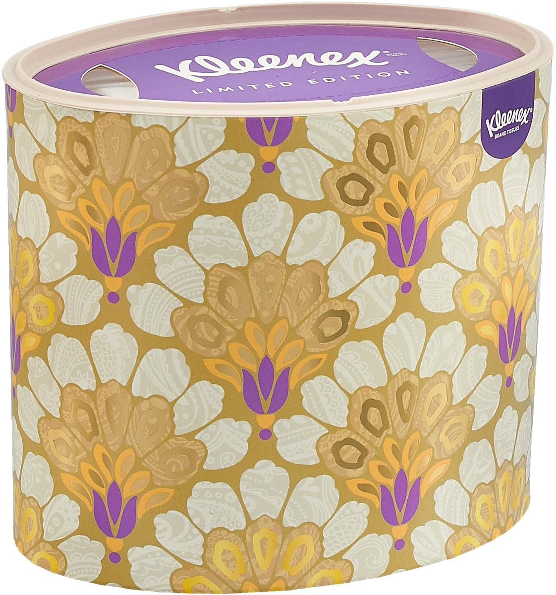 """Фото Kleenex Бумажные салфетки """"Decor"""", универсальные, цвет: горчичный, золотой, 64 шт"""