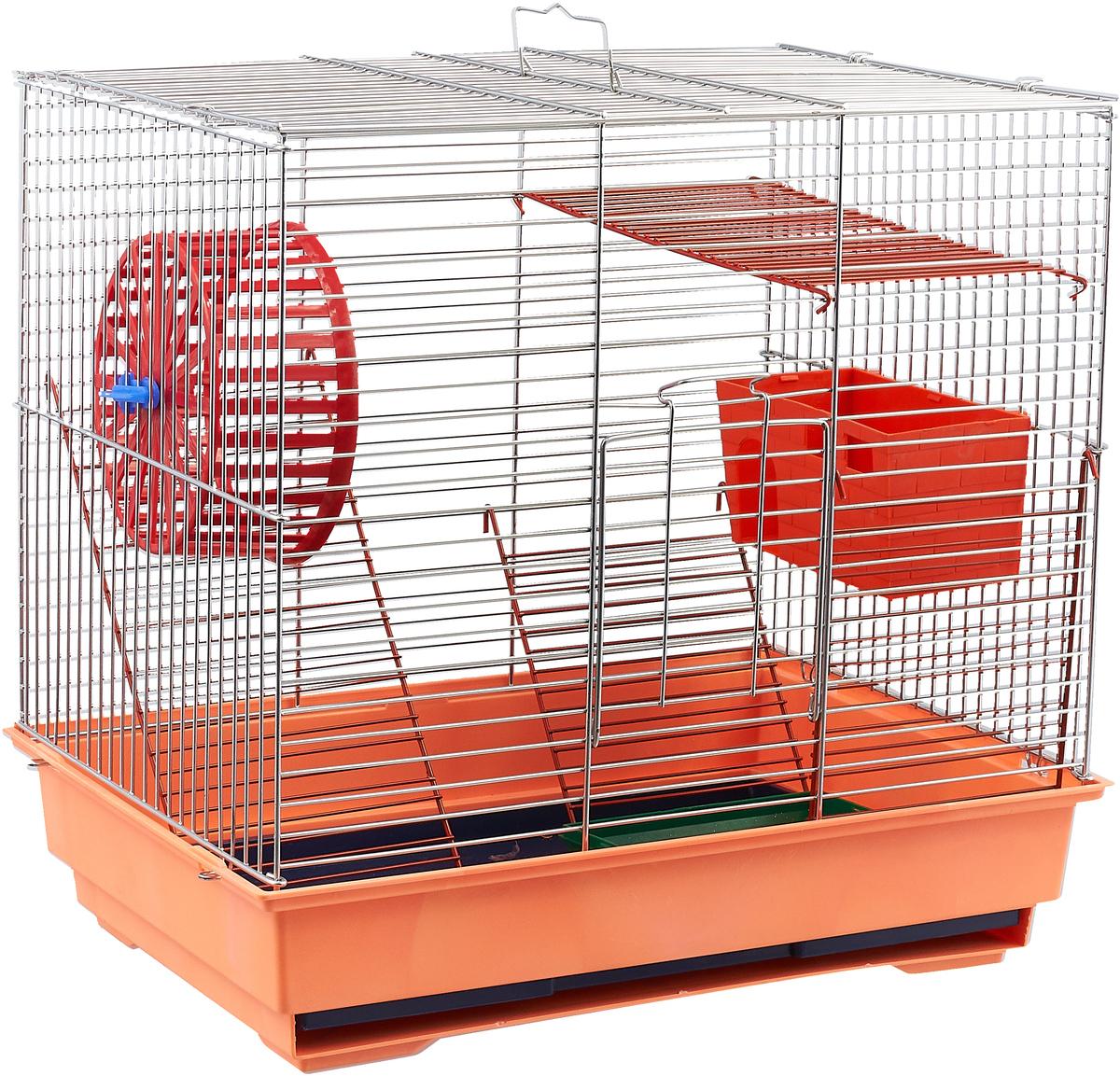 Клетка для грызунов Велес Lusy 3, 3-этажная, разборная, 30 х 42 х 45 см305Качественные и красивые клетки Велес для грызунов дадут вам и вашему любимцу уверенность в том, что у него есть свой дом, в котором комфортно и удобно.