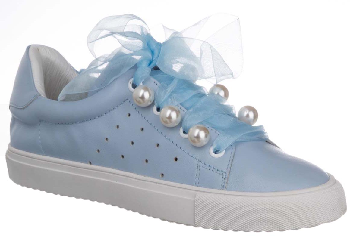 Кеды женские Vitacci, цвет: голубой. 145058. Размер 40