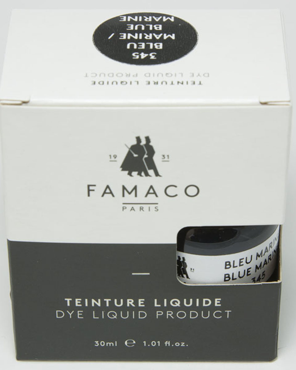 Жидкий краситель для кожи Famaco, цвет: синий, 30 мл набор для чистки обуви famaco xl