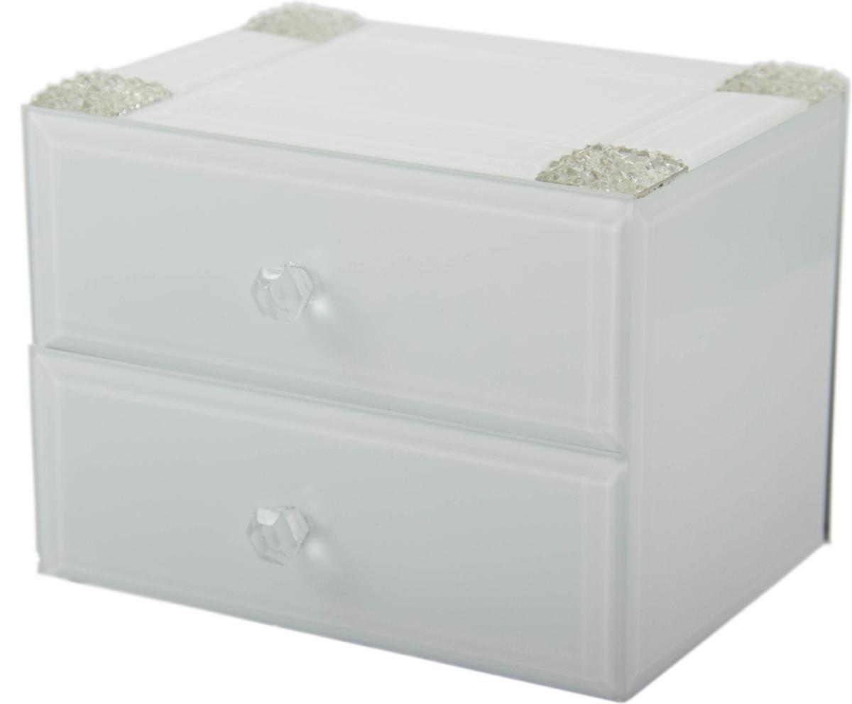 Шкатулка для украшений, цвет: белый, 16 х 12 х 12 см. 79202 шкатулка для ювелирных украшений win max 20 х 17 х 9 см