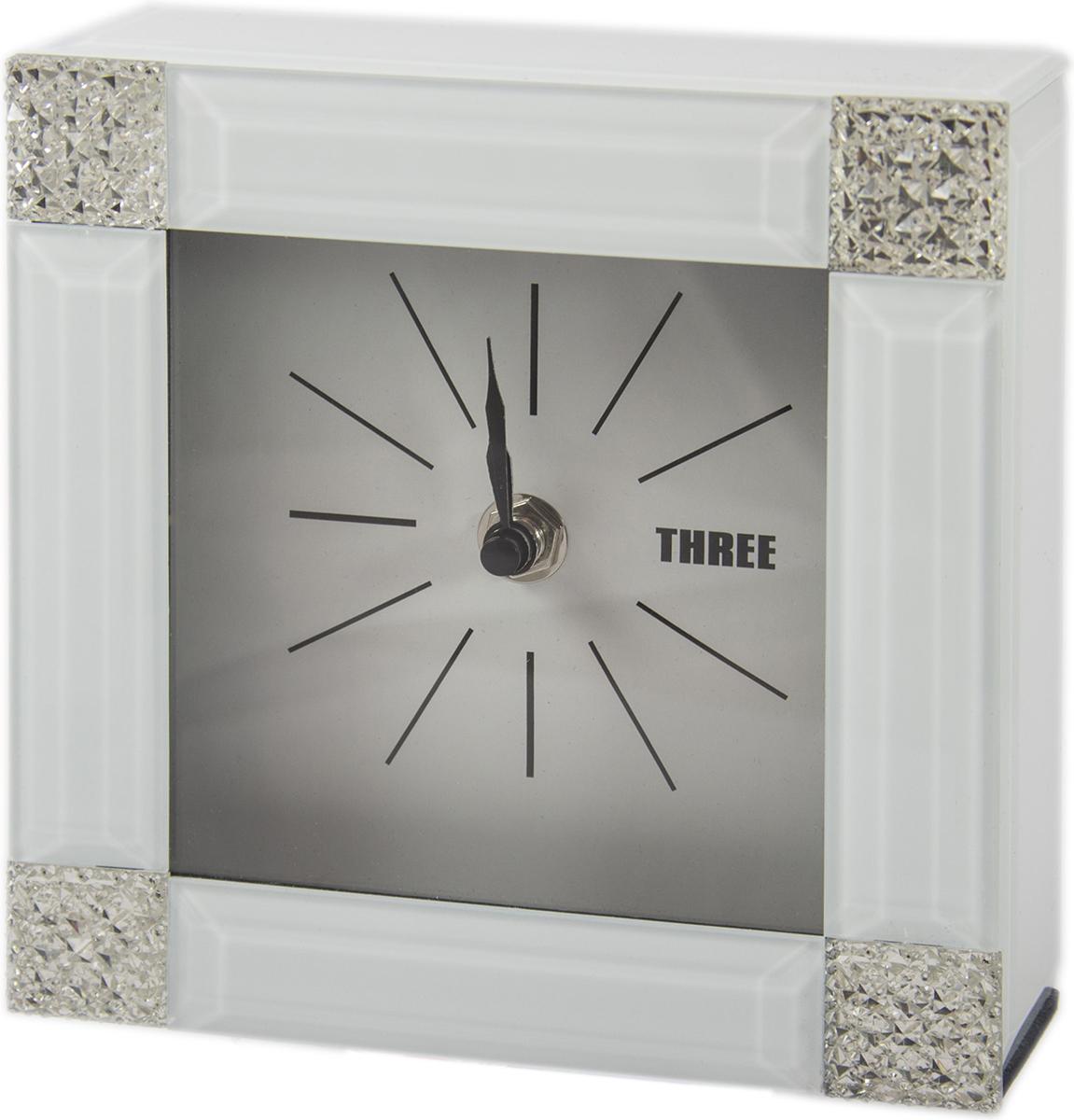 Часы настольные, цвет: белый, 15 х 15 х 5 см . 79203 ваш дом
