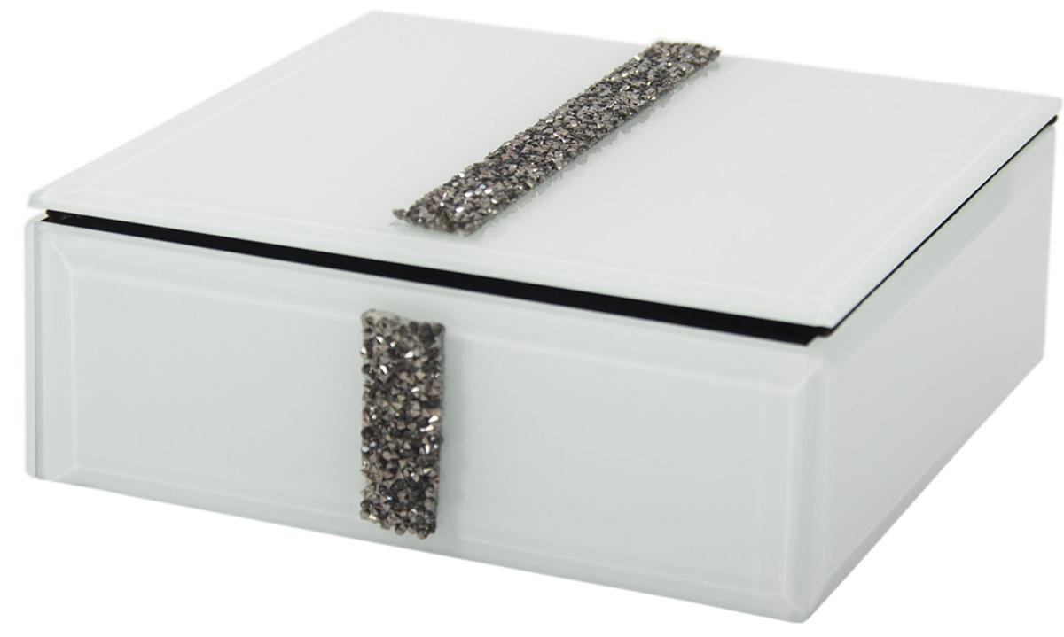 Шкатулка для украшений, цвет: белый, 16 х 16 х 6 см. 79204 шкатулка для ювелирных украшений win max 20 х 17 х 9 см