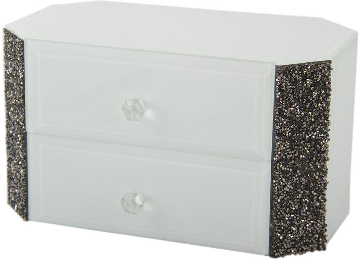 Шкатулка для украшений, цвет: белый, 25 х 17 х 8 см. 79210 шкатулка для ювелирных украшений win max 20 х 17 х 9 см