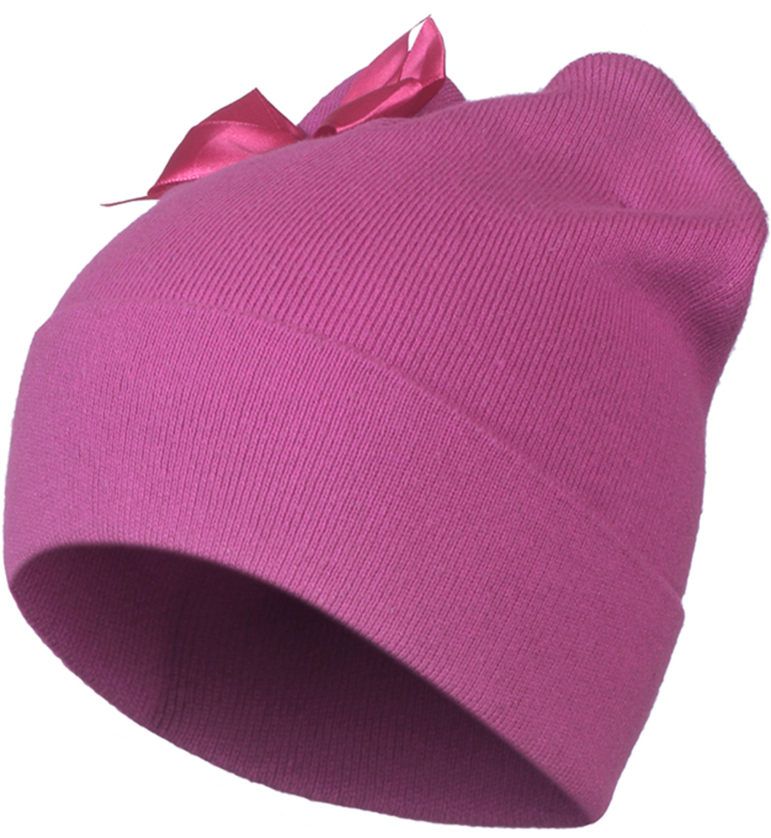 Шапка для девочки Oldos Руза, цвет: фуксия. 3O8HW06. Размер 50/523O8HW06Демисезонная стильная и практичная шапка от Oldos для девочки. Пряжа из хлопка и акрила очень нежная и приятная на ощупь, голове ребенка будет уютно и комфортно. Вязка плотная, такая шапка будет держать форму, не растянется и не деформируется. Декоративный отворот дает дополнительную защиту от ветра. Форма шапки с ушками и декоративным бантом делает образ веселым и женственным.