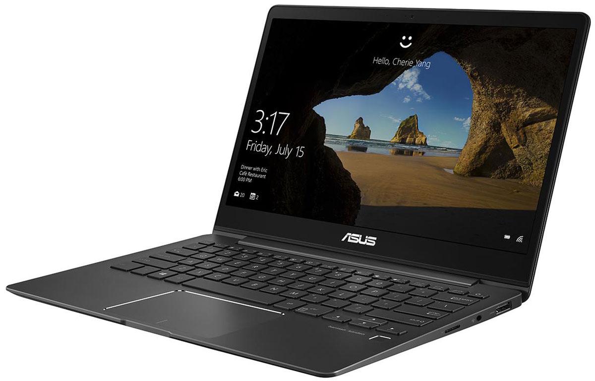 ASUS ZenBook 13 UX331UA, Gray Metal (UX331UA-EG001T)UX331UA-EG001TASUS ZenBook 13 UX331UA - это элегантность и стильный дизайн, которые вы привыкли ожидать от ультрабуковсерии ZenBook, дополненные новыми, яркими деталями, такими как ослепительная отделка, напоминающаямерцающую поверхность кристалла. Данная модель оснащается мощным процессором Intel Core i5, оперативнойпамятью 8 ГБ и скоростным твердотельным накопителем, поэтому она представляет собой идеальнуюмобильную платформу для креативной работы и ярких развлечений. Редактируйте видео и фотографии,наслаждайтесь любимыми фильмами и играми - все это доступно с быстрым, тонким и легким ультрабукомZenBook 13 UX331UA!ZenBook 13 UX331UA - это по-настоящему мобильное устройство, которое легко можно взять с собой в любоепутешествие. Его вес составляет всего 1,12 кг, а толщина корпуса - 13,9 мм. Благодаря дисплею NanoEdge сузкой экранной рамкой он компактнее, чем обычные 13-дюймовые ноутбуки. Чтобы предложить своему пользователю максимально большое экранное пространство в как можно болеекомпактном корпусе, данный ультрабук обладает дисплеем NanoEdge, отличительной особенностью которогоявляется невероятно тонкая рамка (6,86 мм), что обеспечивает увеличенную относительную площадь - 80% отразмера крышки. В результате, 13,3-дюймовый дисплей помещается в корпус, который меньше, чем у многих 13- дюймовых моделей. Помимо компактности он может похвастать разрешением Full HD и широкими углами обзора(178°). Будучи по-настоящему мобильным устройством, ZenBook 13 UX331UA оснащается литий-полимернымаккумулятором емкостью 50 Вт/ч - этого вполне достаточно для того, чтобы им можно было пользоваться до 14часов в автономном режиме. Кроме того, он поддерживает технологию ускоренной подзарядки, котораяувеличивает заряд аккумулятора с нуля до 60% всего за 49 минут. Также данный аккумулятор обладает долгимсроком службы и будет сохранять большую часть своей первоначальной емкости даже после сотен цикловперезарядки.Для быстрого обмена данными