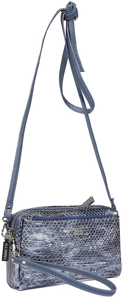 Косметичка женская Fabretti, цвет: синий. 713SZA1-blue reptil M