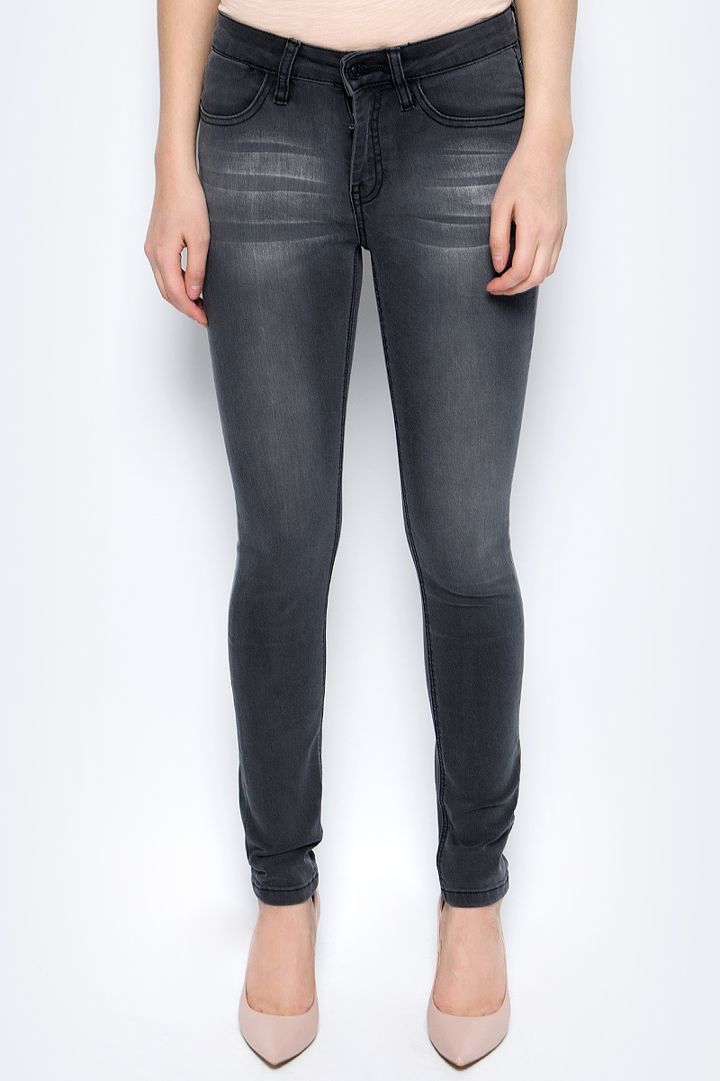 Джинсы женские Sela, цвет: темно-серый. PJ-135/638-8102. Размер 31-32 (48-32)PJ-135/638-8102Женские джинсы от Sela выполнены из высококачественного материала. Модель стандартной посадки застегивается на пуговицу в поясе и ширинку на застежке-молнии. Спереди джинсы дополнены двумя втачными карманами и одним маленьким карманом, сзади - двумя накладными карманами.
