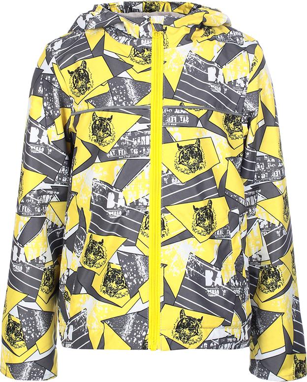 Куртка для мальчика Jicco By Oldos Веня, цвет: желтый, черный. 3J8JK08. Размер 92, 2 года куртка для девочки jicco by oldos 3к1717 эсма цвет сирень бирюзовый 92 4690205253828
