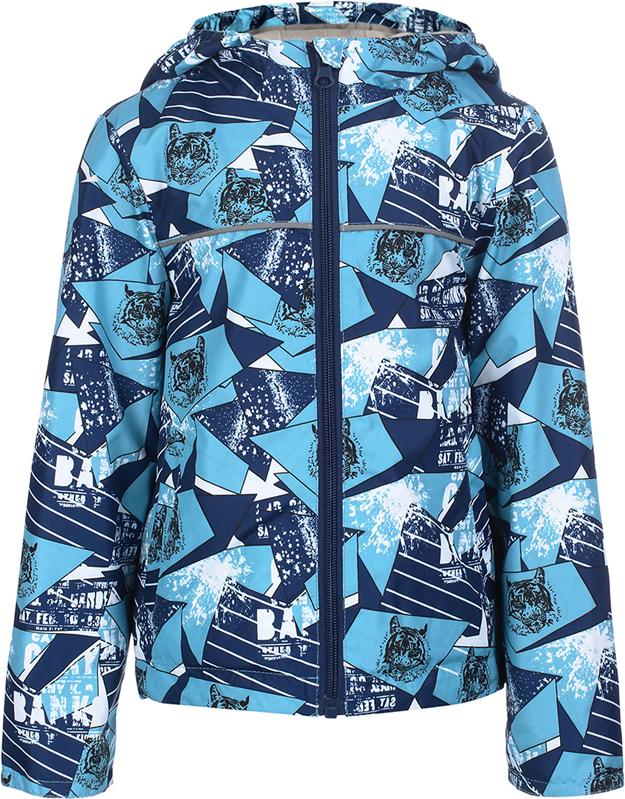 Куртка для мальчика Jicco By Oldos Веня, цвет: голубой, синий. 3J8JK08. Размер 92, 2 года куртка для девочки jicco by oldos 3к1717 эсма цвет сирень бирюзовый 92 4690205253828