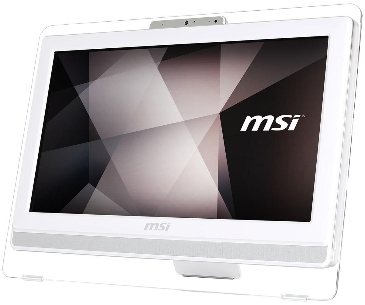 MSI Pro 20ET 4BW-053RU, White моноблокPRO 20ET 4BW-053RUМоноблоки серии MSI Pro 20ET 4BW - это законченные решения, позволяющие сэкономить ценное пространствокак на офисном столе, так и на стойке вашего магазина. Они укомплектованы мощными процессорами ипортами, позволяющими подключить любое торговое оборудование, которое используется сегодня в магазинахи офисах.Великолепный дисплей моноблока обрамляет прозрачная оправа. Благодаря привлекательному дизайну этамодель будет отлично смотреться не только на вашем рабочем столе, но и прекрасно впишется в интерьервашего дома.Модель оснащена COM портом и 4 портами USB 2.0, что позволит подключить к ней любые виды коммерческихPOS-машин, таких как сканеры штрих-кода, чековые принтеры и многие другие устройства.Специальная технология Anti-Flicker, интегрированная в дисплей моноблока, стабилизирует питание экрана ипредотвращает незаметное для невооружённого глаза мерцание изображения. При долговременномиспользовании она существенно снижает нагрузку на глаза и способна повысить вашу производительность.Синий свет может быть опасен для человеческого зрения, так как повышает риск возникновения катаракты идегенерации сетчатки. Дисплей MSI Pro 20ET 4BW, оснащённый технологией LESS BLUE LIGHT, эффективноснижает интенсивность синего света.Моноблок снабжён процессором Intel Braswell, отличающимся высокой мультизадачной производительностью.Также он имеет низкое энергопотребление, требуя для нормальной работы лишь 6 Вт TDP. Таким образом, онспособствует снижению энергопотребления, экономии ваших средств и сохранению экосистемы.Точные характеристики зависят от модификации.Моноблок сертифицирован EAC и имеет русифицированную клавиатуру и Руководство пользователя.