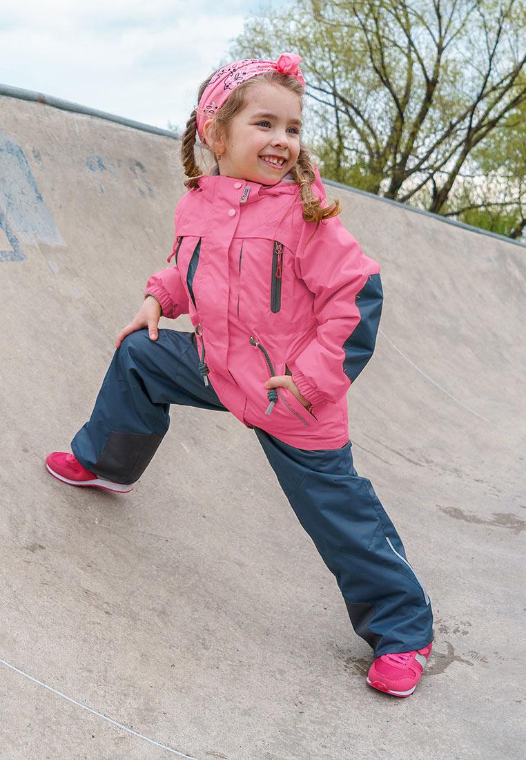 Куртка для девочки Oldos Active Киана, цвет: розовый, серый. 2A8JK28. Размер 140, 10 лет куртка для девочки oldos active одри цвет коралловый темно серый 2a8jk06 размер 140 10 лет