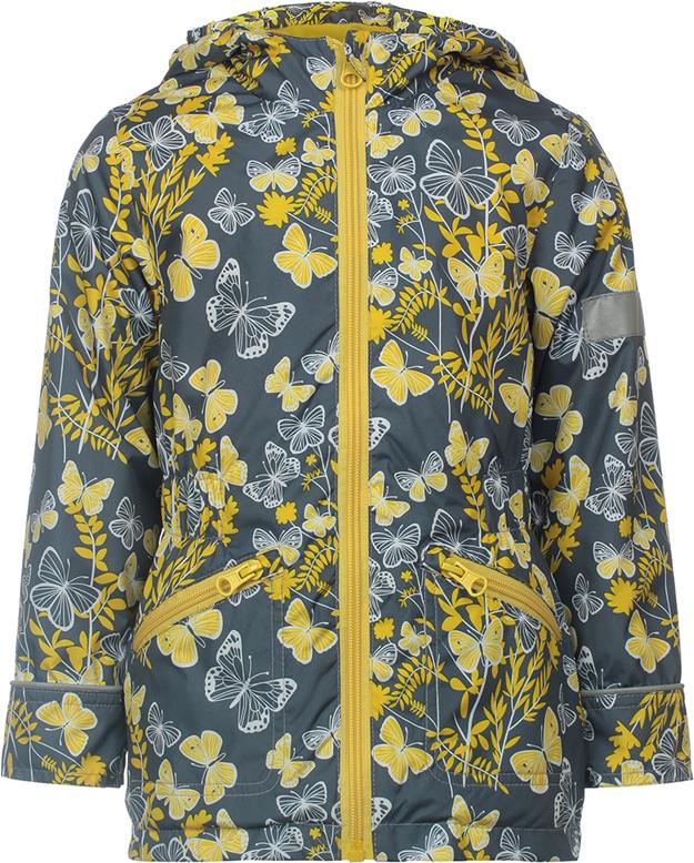Куртка для девочки Jicco By Oldos Флавия, цвет: серый, желтый. 3J8JK04. Размер 98, 3 года куртка для девочки jicco by oldos 3к1717 эсма цвет сирень бирюзовый 92 4690205253828
