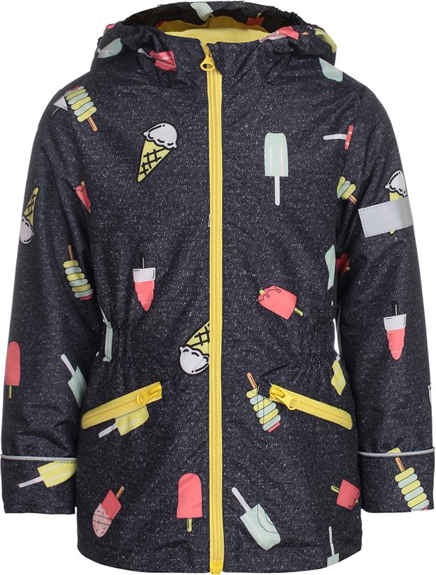Куртка для девочки Jicco By Oldos Леди, цвет: графитовый. 3J8JK03. Размер 98, 3 года куртка для девочки jicco by oldos 3к1717 эсма цвет сирень бирюзовый 92 4690205253828