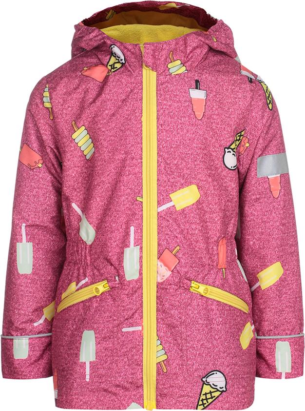 Куртка для девочки Jicco By Oldos Леди, цвет: малиновый. 3J8JK03. Размер 98, 3 года куртка для девочки jicco by oldos 3к1717 эсма цвет сирень бирюзовый 92 4690205253828