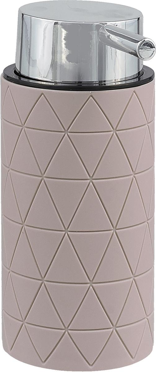 """Дозатор для жидкого мыла серии """"Diamond"""", изготовленный из пластика с прорезиненным покрытием Soft-touch цвета """"Taupe"""" (серо-коричневый) , отлично подойдет для вашей ванной комнаты.  Серия """"Diamond"""" создаст особую атмосферу уюта и максимального комфорта в ванной."""