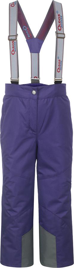 Брюки утепленные для девочки Oldos Active Омега, цвет: фиолетовый. 3A8PT26. Размер 98, 3 года3A8PT26Незаменимые в межсезонье ветровые брюки из мембранной коллекции от Oldos Active. Верхняя ткань с мембраной 3000/3000 обеспечивает водонепроницаемость, при этом одежда дышит. Покрытие Teflon повышает износостойкость, а также облегчает уход за брюками. Подкладка - ворсовое полотно гладкой стороной к телу. Брюки имеют все необходимое для комфортной носки: широкие эластичные съемные лямки, регулируемые по длине; регулировку объема по талии; ветрозащитные муфты с антискользящей резинкой; усиления по низу брючин в местах особого износа; карманы на молнии; светоотражающие элементы.