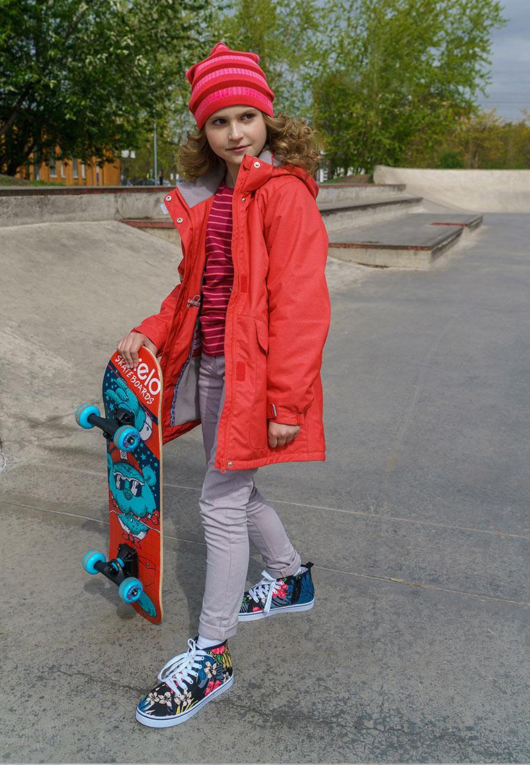 Фото Плащ для девочки Oldos Active Теона, цвет: грейпфрутовый. 2A8CT04. Размер 152, 11 лет 7 месяцев