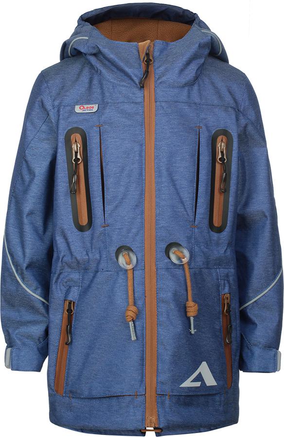 Куртка для мальчика Oldos Active Эрагон, цвет: синий. 3A8JK15. Размер 116, 6 лет3A8JK15Стильная куртка из мембранной коллекции от Oldos Active. Верхняя ткань с мембраной 3000/3000 обеспечивает водонепроницаемость, при этом ветровка дышит. Покрытие Teflon повышает износостойкость, а также облегчает уход за курткой. Подкладка - флис, в области груди и спины, плотный полиэстер в рукавах. Такая куртка прекрасно защитит от непогоды благодаря продуманному функционалу: капюшону с внутренней резинкой по краям для лучшего прилегания, ветрозащитной планке по всей длине молнии с защитой подбородка, манжетам на резинке с клином, который регулируется липучкой и внешней регулировке по талии. Куртка оснащена карманами на молнии и светоотражающими элементами. Внутри куртки есть потайной карман, который застегивается на липучку и нашивка-потеряшка.