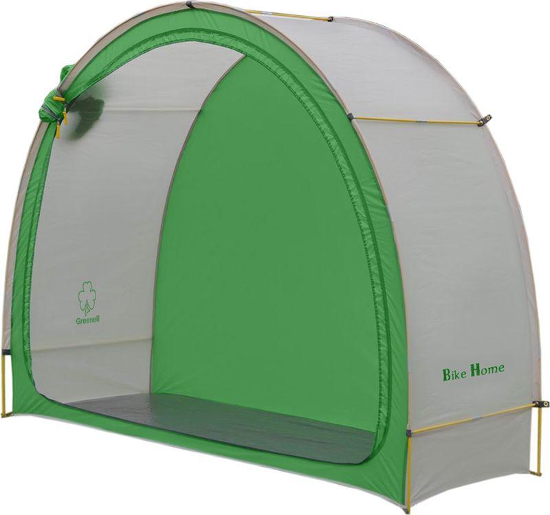 Тент Greenell Байк Хоум, цвет: зеленый, светло-серый